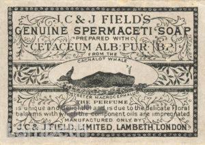 J.C.& J.FIELD'S SOAP PACKET, UPPER MARSH, LAMBETH