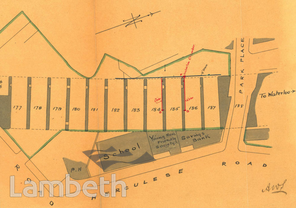 PLAN: RAILWAY ARCHES, HERCULES ROAD, LAMBETH