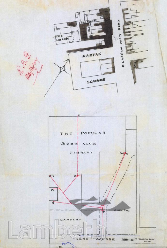 POPULAR BOOK CLUB LIBRARY, ACRE SQUARE, CLAPHAM