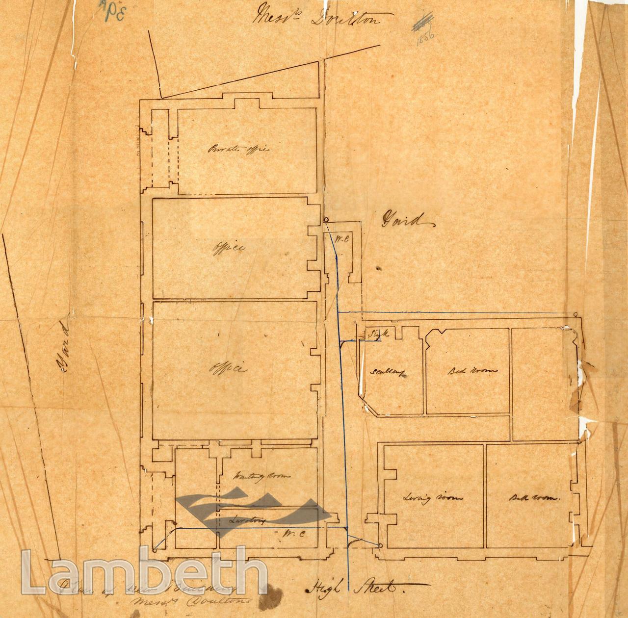 DOULTON BUILDING PLAN, HIGH STREET, LAMBETH