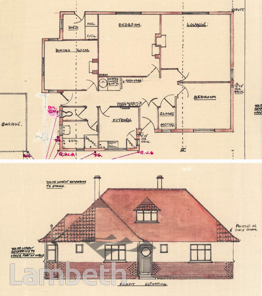 PROPOSED BUNGALOW, 45 TOOTING BEC GARDENS, STREATHAM