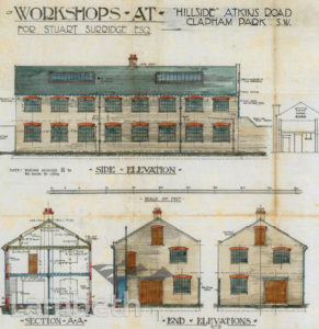 'HILLSIDE' WORKSHOPS, ATKINS ROAD, CLAPHAM PARK