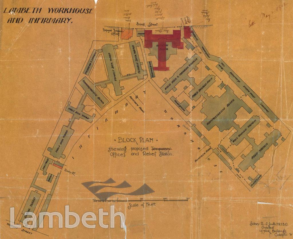 LAMBETH WORKHOUSE & INFIRMARY, BROOK STREET, KENNINGTON