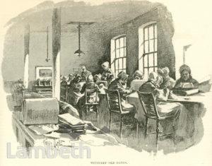 ELDERLY WOMEN, LAMBETH WORKHOUSE, RENFREW ROAD, KENNINGTON
