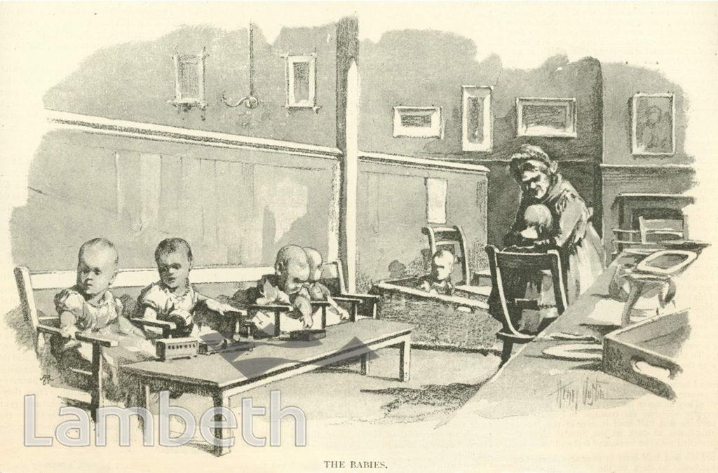 BABIES, LAMBETH WORKHOUSE, RENFREW ROAD, KENNINGTON