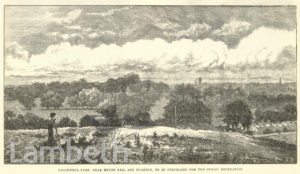 BROCKWELL PARK FROM KNIGHT'S HILL, HERNE HILL