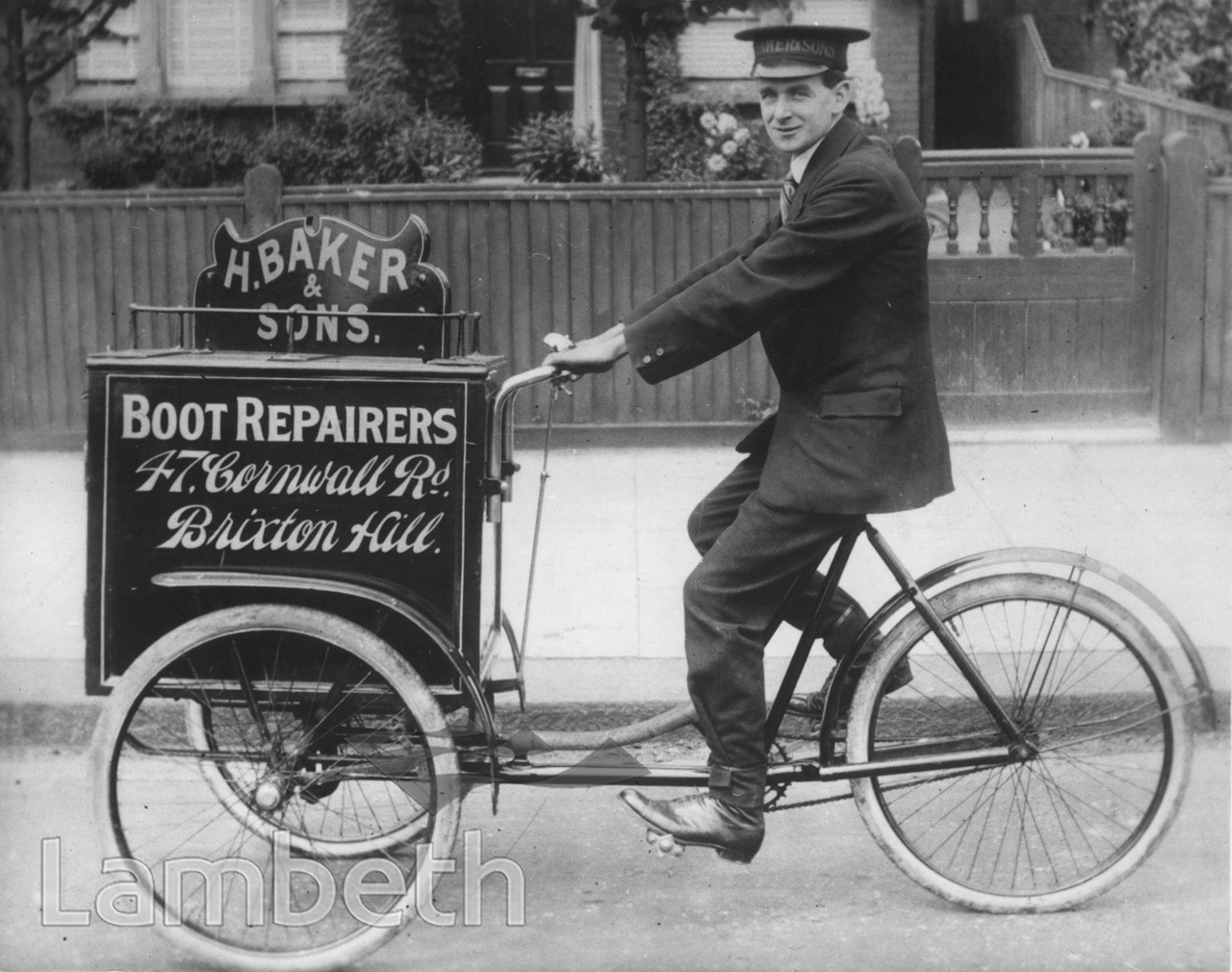BOOT REPAIRER, BAKER & SON, 47 CORNWALL ROAD, BRIXTON HILL