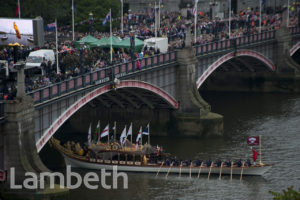 THE GLORIANA, DIAMOND JUBILEE REGATTA, LAMBETH BRIDGE