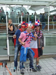 FRENCH OLYMPIC TEAM SUPPORTERS, LONDON EYE, SOUTH BANK