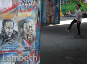 ANDY MURRAY & BEN AINSLIE, OLYMPIC GRAFFITI, SOUTH BANK