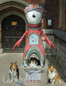 OLYMPIC MASCOT WITH DOGS, LAMBETH PALACE, LAMBETH
