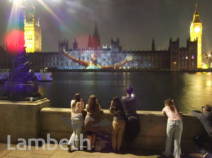 OLYMPIC LIGHTSHOW, ALBERT EMBANKMENT, LAMBETH