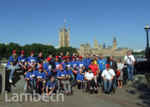 FRENCH PARALYMPIC TEAM MEMBERS, ALBERT EMBANKMENT, LAMBETH