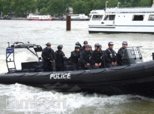 OLYMPIC'S POLICE RIVER PATROL, RIVER THAMES, SOUTH BANK