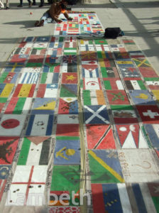 FLAGS OF THE WORLD, SOUTH BANK, WATERLOO