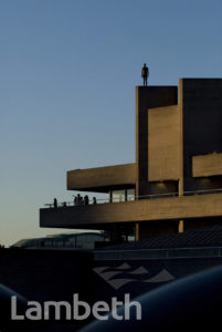 ANTHONY GORMLEY SCULPTURE, NATIONAL THEATRE, SOUTH BANK