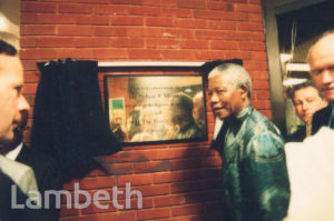 NELSON MANDELA, BRIXTON RECREATION CENTRE, BRIXTON