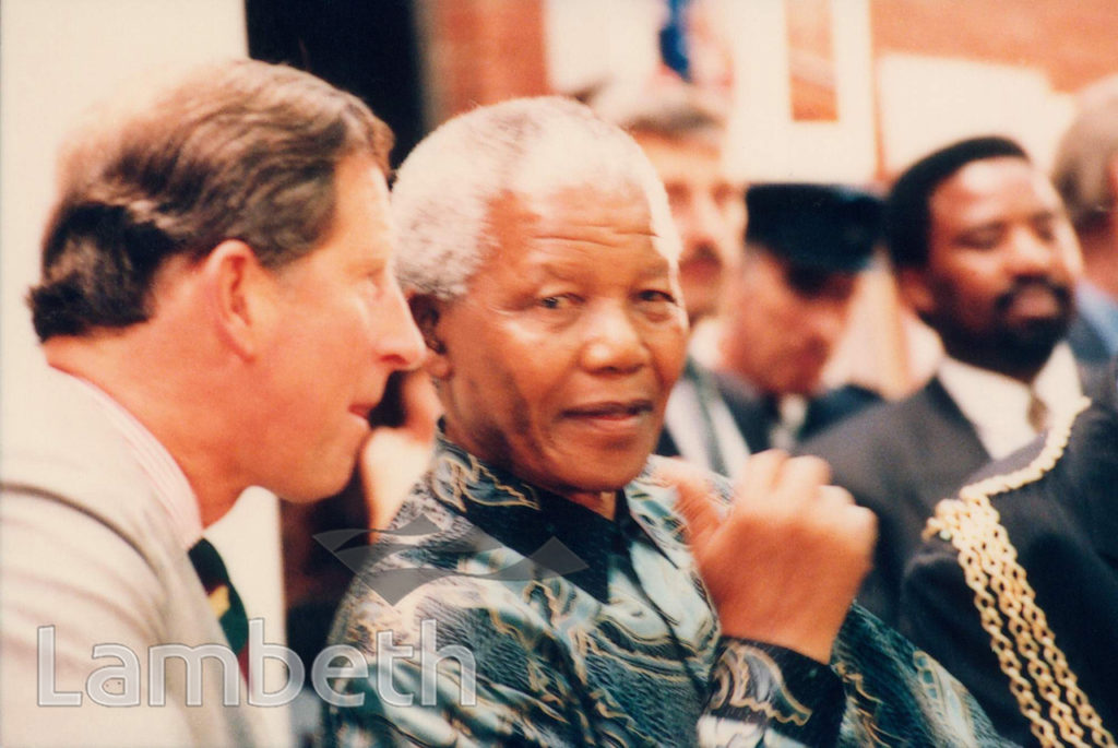 NELSON MADELA AND PRINCE CHARLES, BRIXTON RECREATION CENTRE