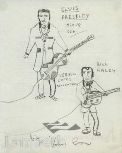 ELVIS PRESLEY & BILL HALEY, LOLLARD PLAYGROUND, LAMBETH