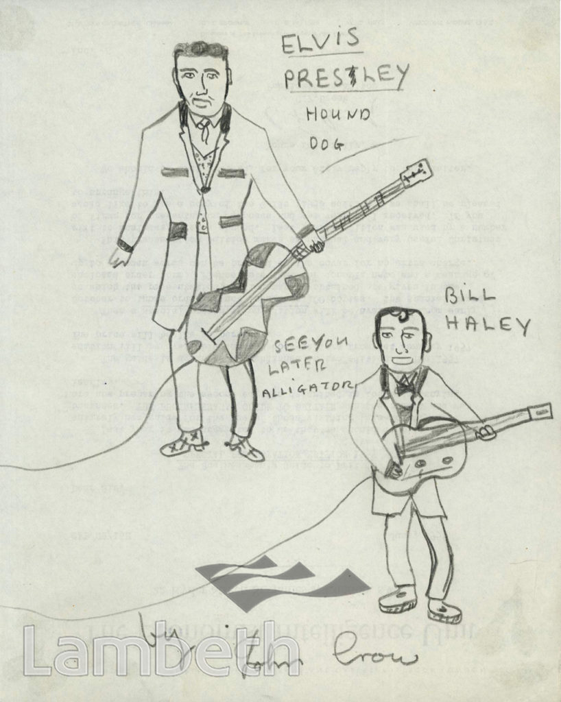 ELVIS PRESLEY & BILL HALEY, LOLLARD PLAYGROUND, LAMBETH