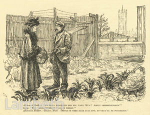 WORLD WAR I ALLOTMENT, ALBERT EMBANKMENT, LAMBETH