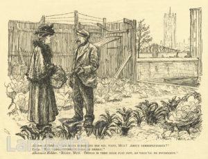 WORLD WAR I ALLOTMENT, ALBERT EMBANKMENT, LAMBETH