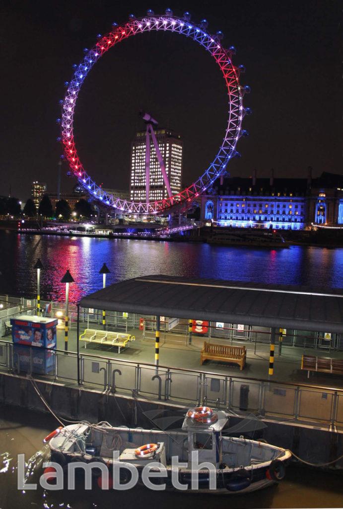 ROYAL BIRTH CELEBRATION, LONDON EYE, SOUTH BANK