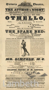 PLAYBILL: ROYAL VICTORIA THEATRE, WATERLOO