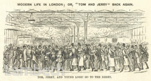 DERBY DAY CROWD, WATERLOO STATION