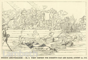DOGGETT COAT AND BADGE RACE, RIVER THAMES, LAMBETH