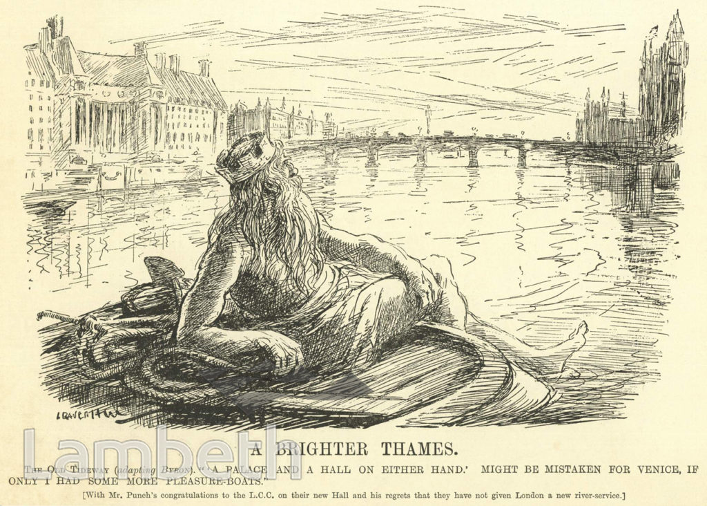 FATHER THAMES OPPOSITE COUNTY HALL, WATERLOO