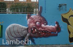 GRAFFITI ARTWORK, AYTOUN ROAD, STOCKWELL
