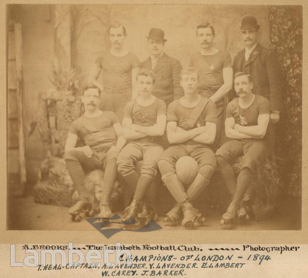 LAMBETH SKATING FOOTBALL CLUB, LONDON CHAMPIONS 1894