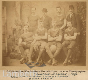 LAMBETH SKATING FOOTBALL CLUB, LONDON CHAMPIONS 1894
