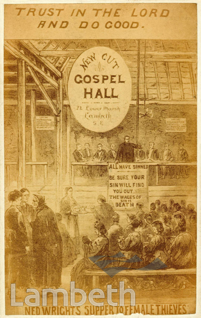 NED WRIGHT'S FEMALE THIEVES' SUPPER, GOSPEL HALL, WATERLOO