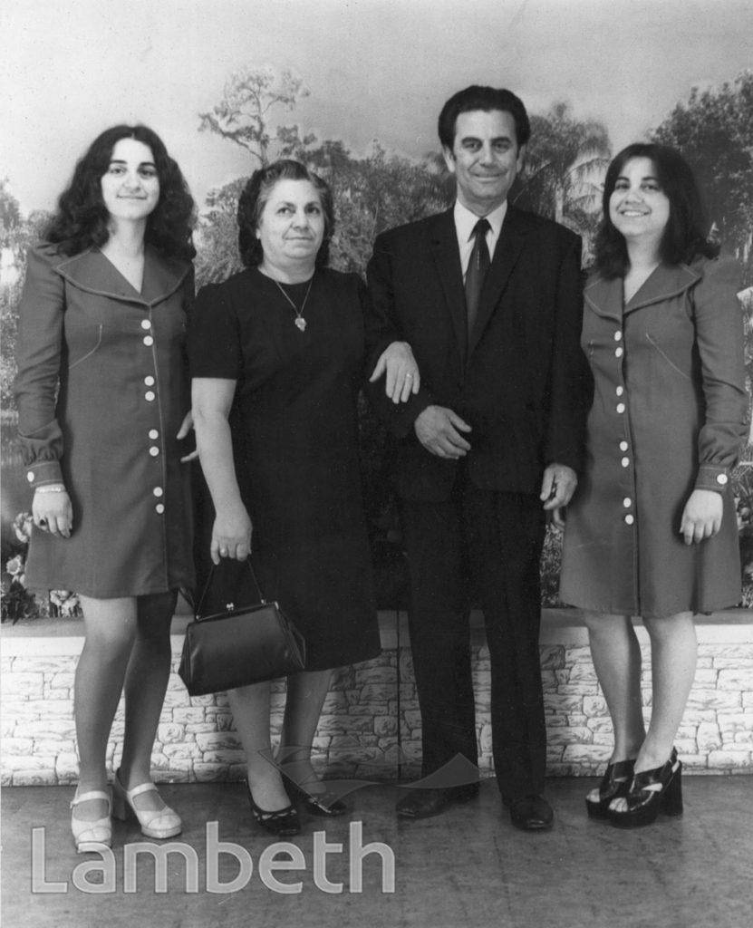 ALEXANDROU FAMILY, HARRY JACOBS STUDIO, LANDOR RD, STOCKWELL