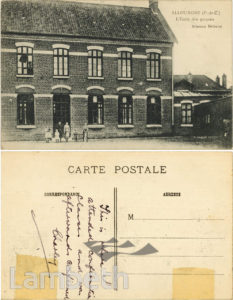 BRIXTON SOLDIER'S POSTCARD HOME, WORLD WAR 1