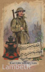 1st SURREY RIFLES CHRISTMAS CARD ARTWORK