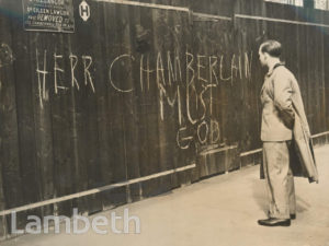 ANTI-CHAMBERLAIN GRAFFITI, 272 KENNINGTON PARK ROAD