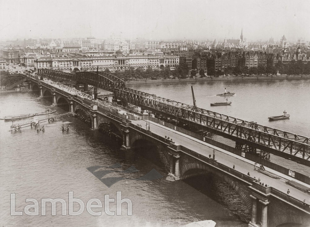 DEMOLITION OF WATERLOO BRIDGE & TEMPORARY STRUCTURE