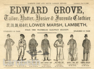 ADVERT FOR EDWARD GROVE, TAILOR, LOWER MARSH, WATERLOO