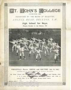 BROCHURE: ST JOHN'S COLLEGE, ANGELL ROAD, BRIXTON