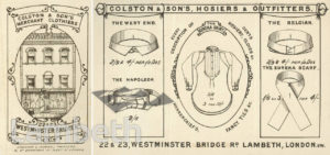 COLSTON & SONS, CLOTHIERS, 22 & 23 WESTMINSTER BRIDGE ROAD