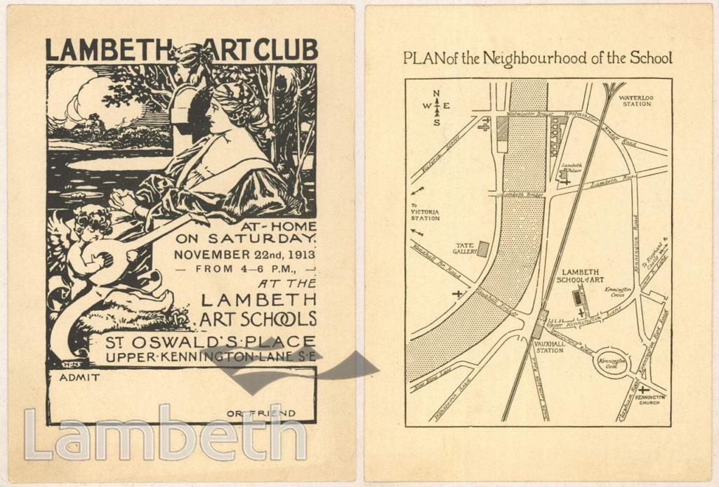 ART CLUB, LAMBETH ART SCHOOL, ST OSWALD'S PLACE, KENNINGTON