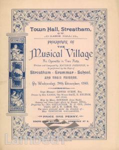 MUSICAL OPERETTA, TOWN HALL, STREATHAM