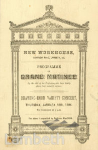 CONCERT, NEW WORKHOUSE, RENFREW ROAD, KENNINGTON