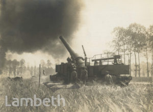 OFFICIAL WWI PHOTO: HEAVY GUN IN ACTION