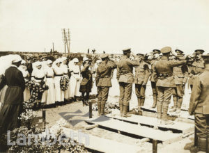 OFFICIAL WWI PHOTO: FUNERAL OF RED CROSS NURSE, FRANCE