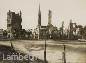 OFFICIAL WWI PHOTO: BOMB DAMAGE, YPRES, BELGIUM