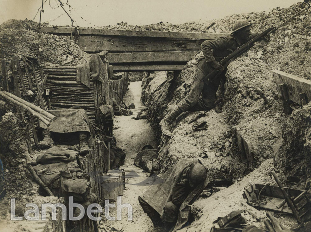OFFICIAL WWI PHOTO: TRENCHES ON THE SOMME